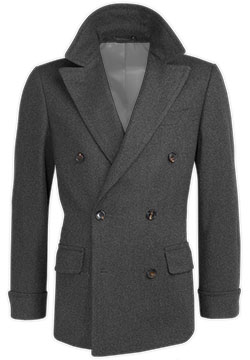 Light Gray Cashmere Crossed Coat