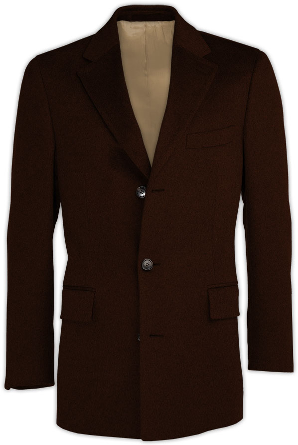 Dark Brown Cashmere Coat