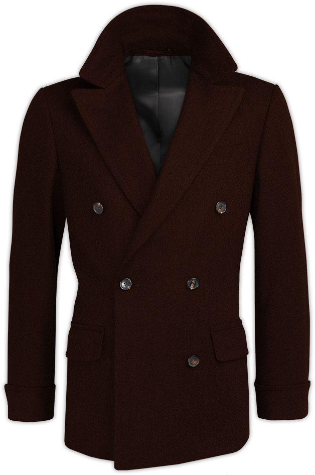 Dark Brown Cashmere Crossed Coat