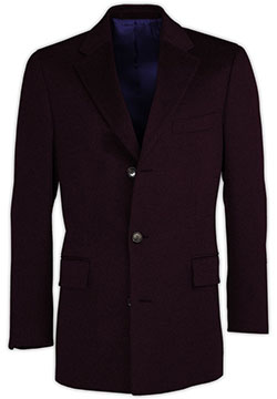 Dark Lilac Cashmere Coat