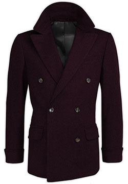 Dark Lilac Cashmere Crossed Coat