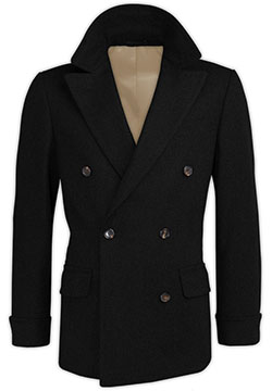 Charcoal Cashmere Crossed Coat
