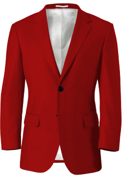 Red Wool Blazer