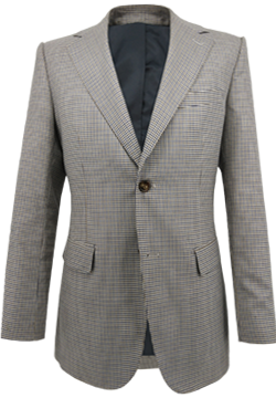 Checkered Blue and Brown Vichy Jacket