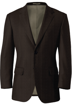 Brown Tweed Herringbone Blazer
