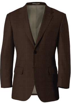 Veste Marron Birdseye Tweed