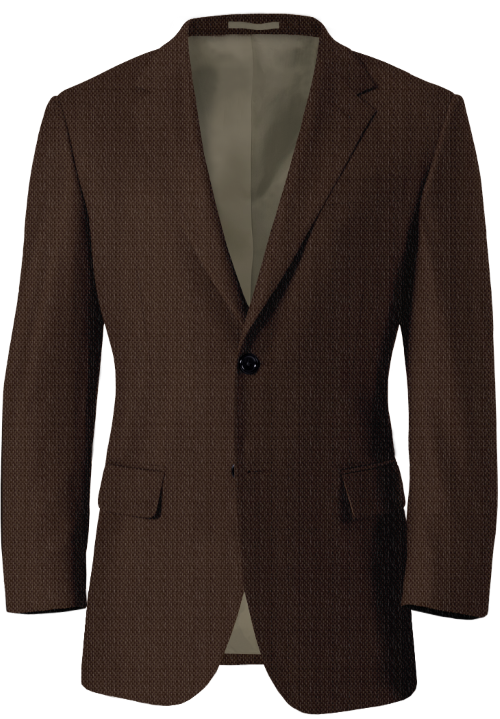 Brown Tweed Birdseye Blazer