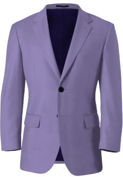 Tonal Blue Wool Blazer