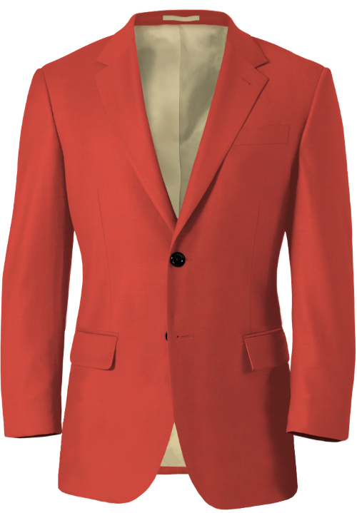 Coral Red Wool Blazer