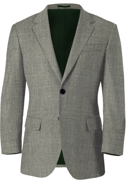 Broken Gray Wool Blazer