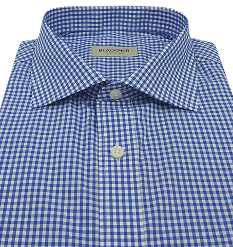 Blue Vichy Check Shirt - Isometric view