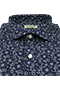 Navy Blue Cashmere Shirt - Isometric view