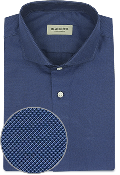 Camisa Azul Oscuro Oxford Frances