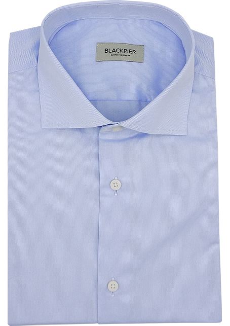 Fine Blue Stripe Shirt - Front view