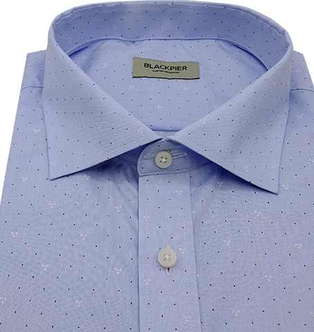Light Blue Knit Shirt - Isometric view