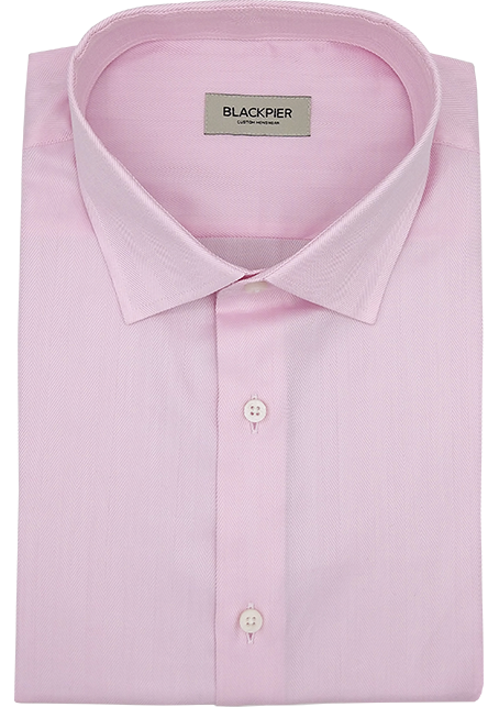 Light Pink Herringbone Shirt - Front view