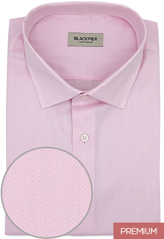 Light Pink Herringbone Shirt