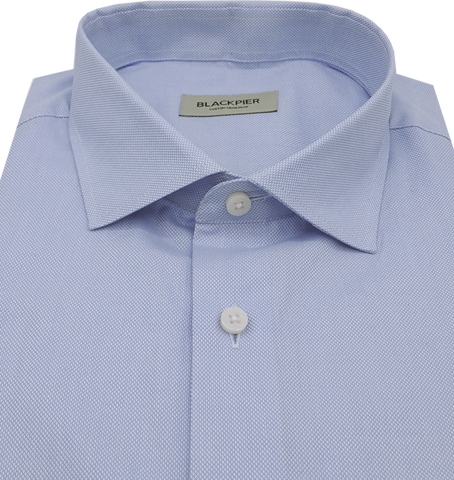Light blue premium shirt - Isometric view