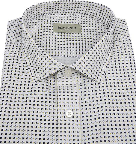 Printed White Shirt - Isometric view