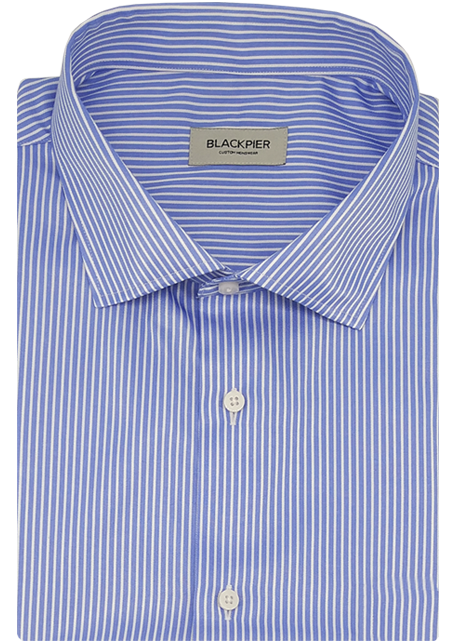 Blue Stripes Shirt - Front view