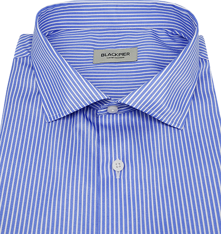 Blue Stripes Shirt - Isometric view