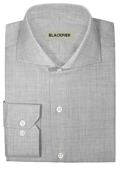 Plain light grey shirt - Front view