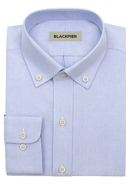 Light blue oxford shirt - Front view