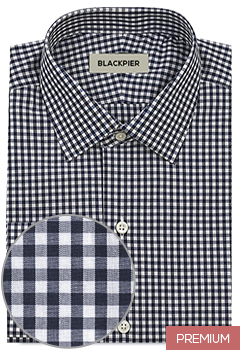 Dark blue checkered shirt