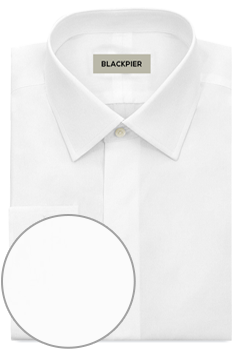 White ceremony shirt hidden buttons