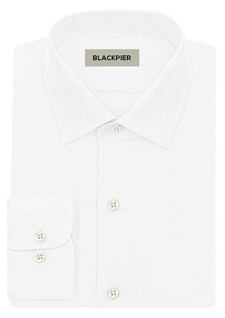 Twill white shirt - Front view