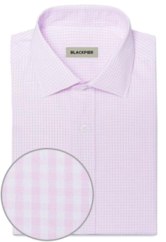 Light pink plaid shirt
