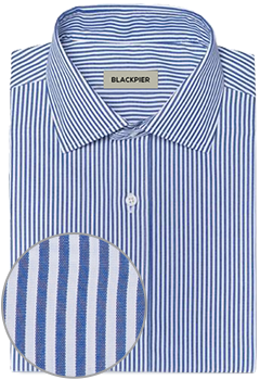 Dark blue striped shirt cerulean