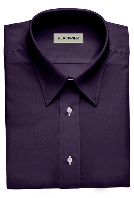 Plain Dark Purple Shirt - Front view