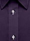 Plain Dark Purple Shirt - Isometric view
