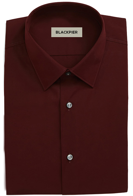 Plain Dark Red Shirt Premium - Front view