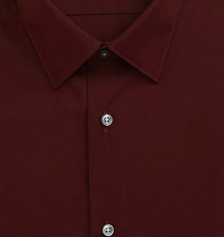 Plain Dark Red Shirt Premium - Isometric view