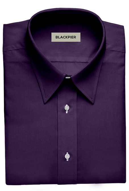Camisa Lila Oscuro Lisa Blackberry - Vista frontal