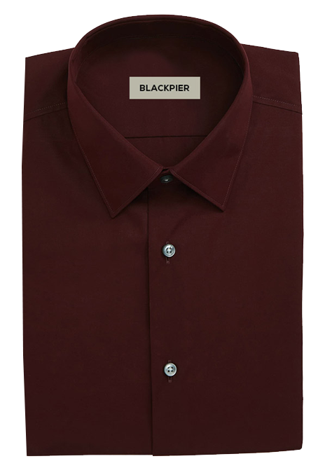 Plain Dark Red Shirt - Front view