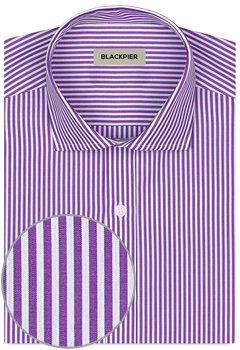 Dark purple striped shirt