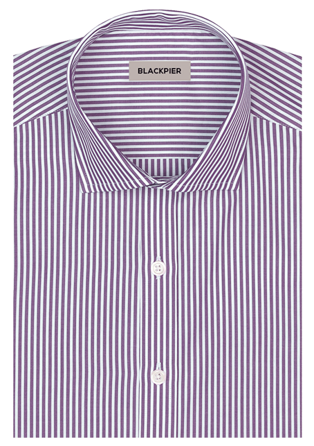 Light purple striped shirt - Front view