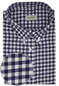 Dark Blue Vichy Check Shirt
