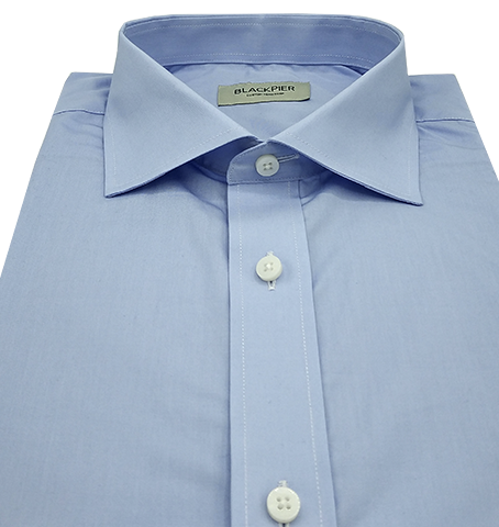 Solid Light Blue Shirt - Isometric view