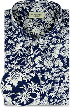 Pattern Blue Shirt