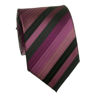 Bordeaux with black and purple striped tie