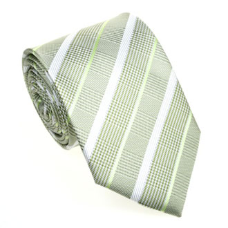 Light green with white striped tie