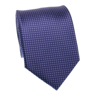 Purple tie with white textured dots
