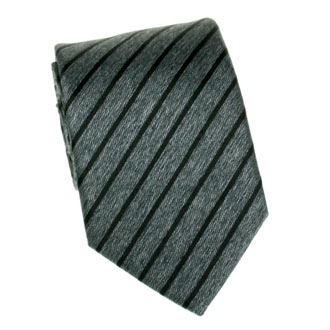 Charcoal with black striped tie