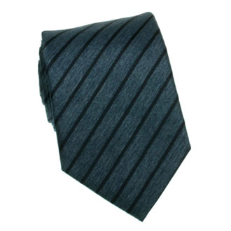 Cobalt blue with black striped tie