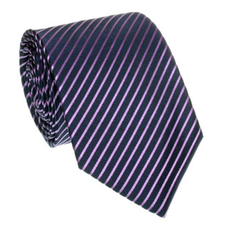 Navy blue with purple striped tie