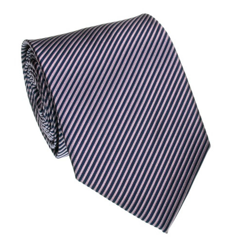 Navy blue and purple striped tie